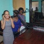 Nkumba university Journalism students on practice in the recently installed modern radio studio