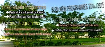 Courses offered at State University of Zanzibar (SUZA)