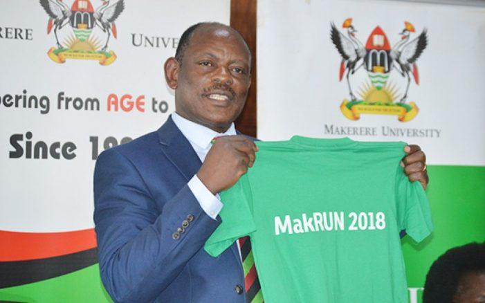 Makerere University Vice Chancellor Prof. Barnabas Nawangwe sponsors 200 students for #MakRun