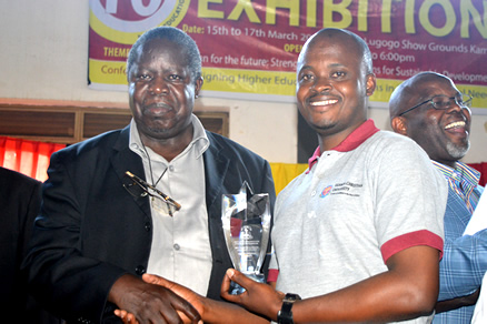 Uganda Christian University wins award for best exhibitor at 10th NCHE exhibition