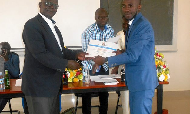 Akatukwasa Duncan sworn in as Muni University Guild president 2018/2019