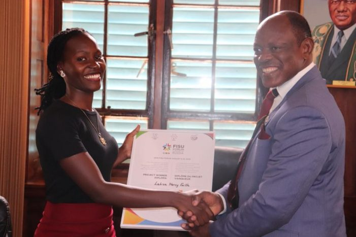Mercy Lakisa, Makerere University's Former Vice Guild President Wins Award For Best Project in Russia
