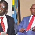 Patrick Oboi Amuriat and Makerere University Vice Chancellor Prof Barnabas Nawangwe
