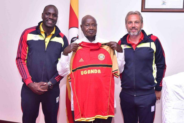President Yoweri Kaguta Museveni delivers Sh 200m to FUFA ahead Lesotho clash in AFCON