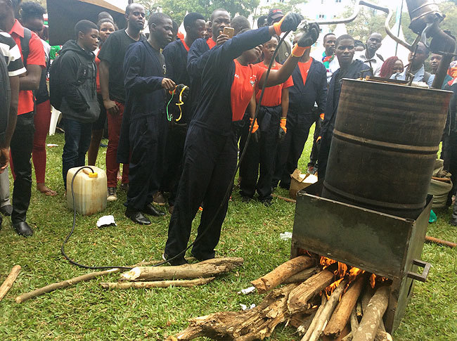 Makerere Students Showcase how to Produce Fuel from Plastic