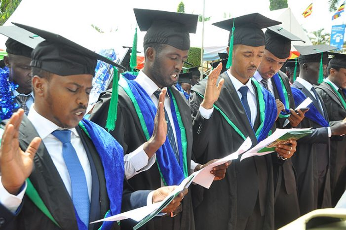 3700 Kampala International University(KIU) Graduates Receive Transcripts on Graduation