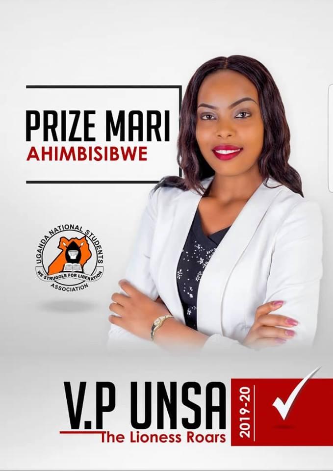 Former Makerere Guild Contestant Prize Mari in UNSA Presidential Race