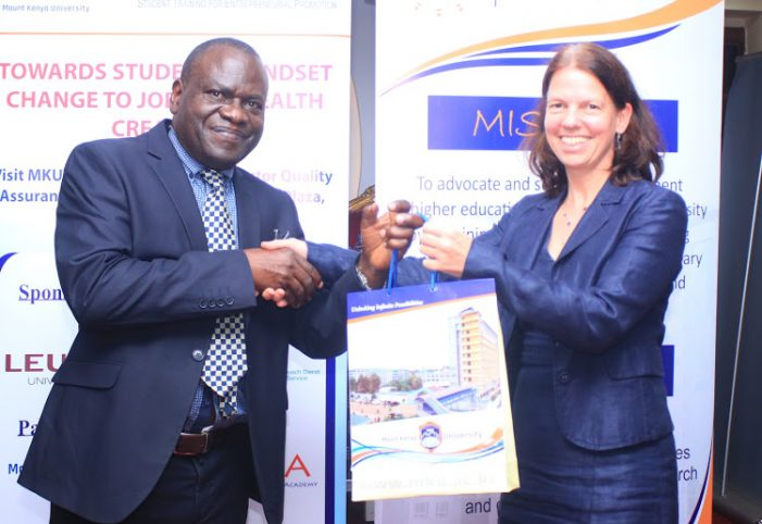 Mount Kenya University, MUBS in Partnership to Promote Startups by Students