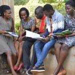 Makerere University students at the freshers album