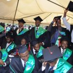 Makerere university graduates at the 64th Graduation ceremony