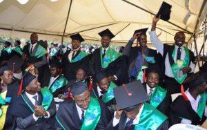 Makerere university graduates at the 64th Graduation ceremony