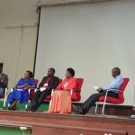 Panel of Discussants at the Journalism and Communication symposium at Makerere university main hall