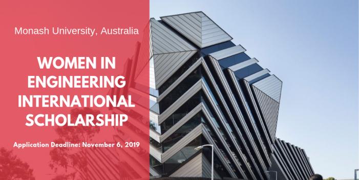 Monash University Women in Engineering International Scholarship in Australia