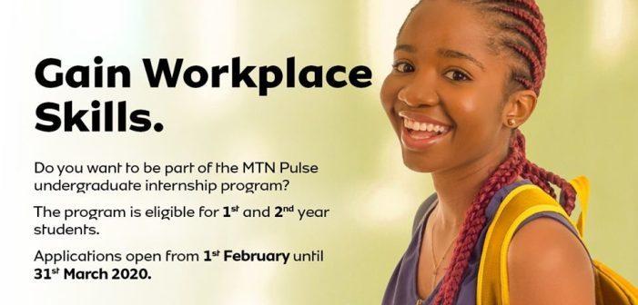 MTN Pulse Undergraduate Internship Program 2020, Apply Now.